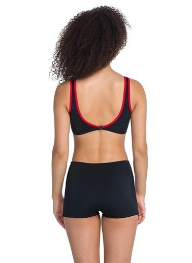 Dagi Şortlu Yüzücü Bikini Takım Siyah